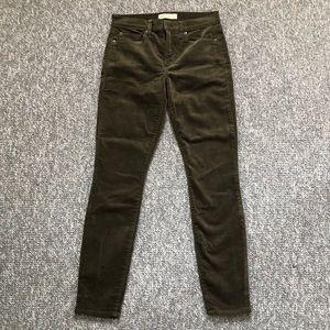 🌈 3/$25 Gap True Skinny corduroy pants green 26 S